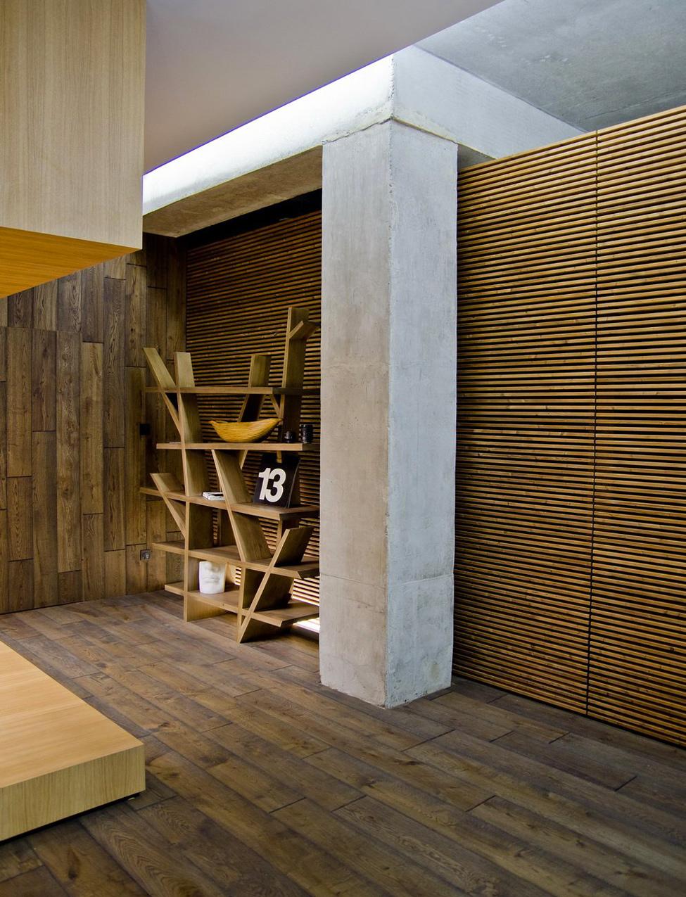 Contemporary Wood Cladding Flooringinterior Design Ideas