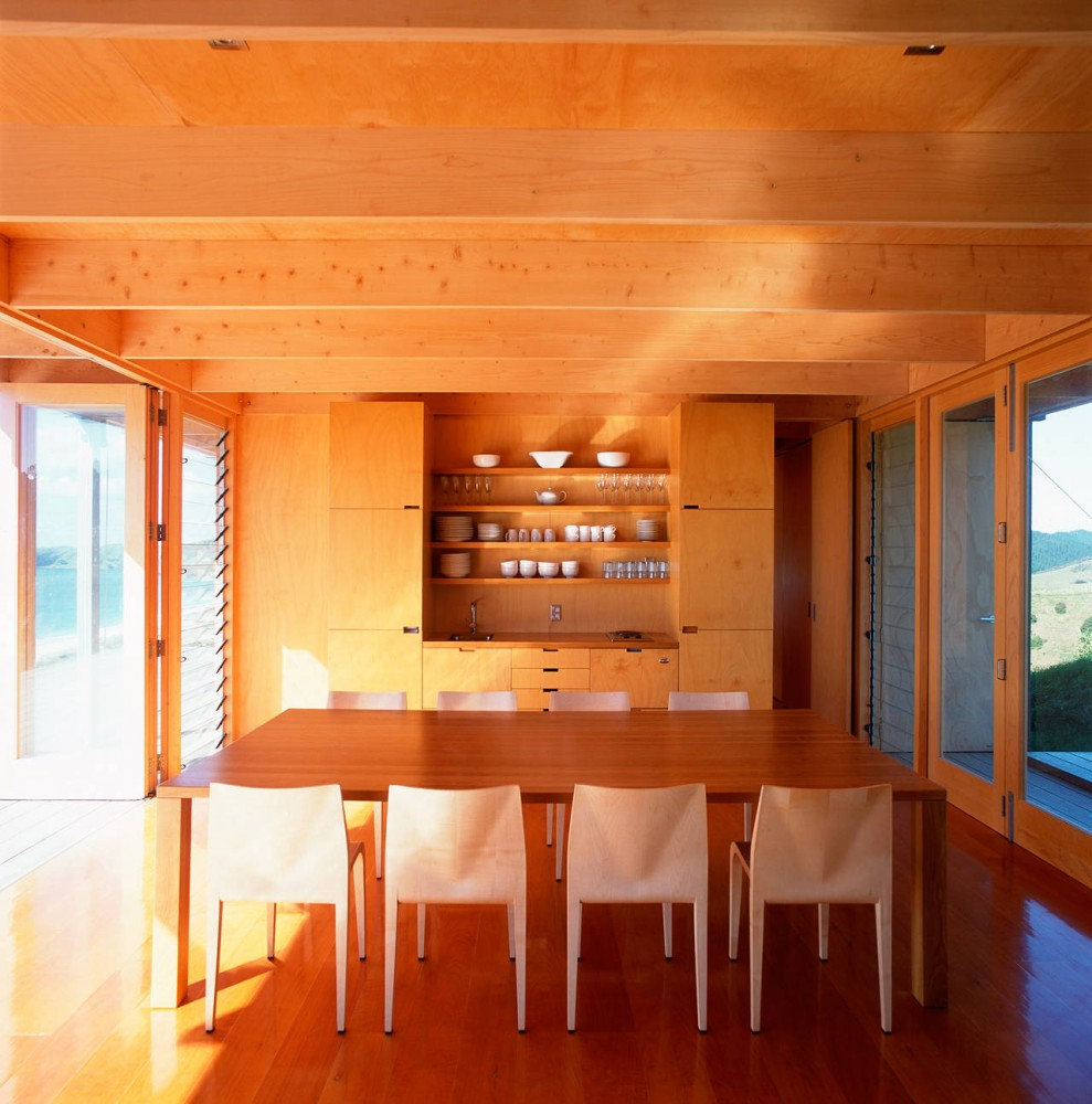 Neutral Dining Room Wood Cladding