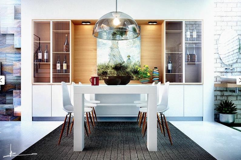 White Decor Dining Areas