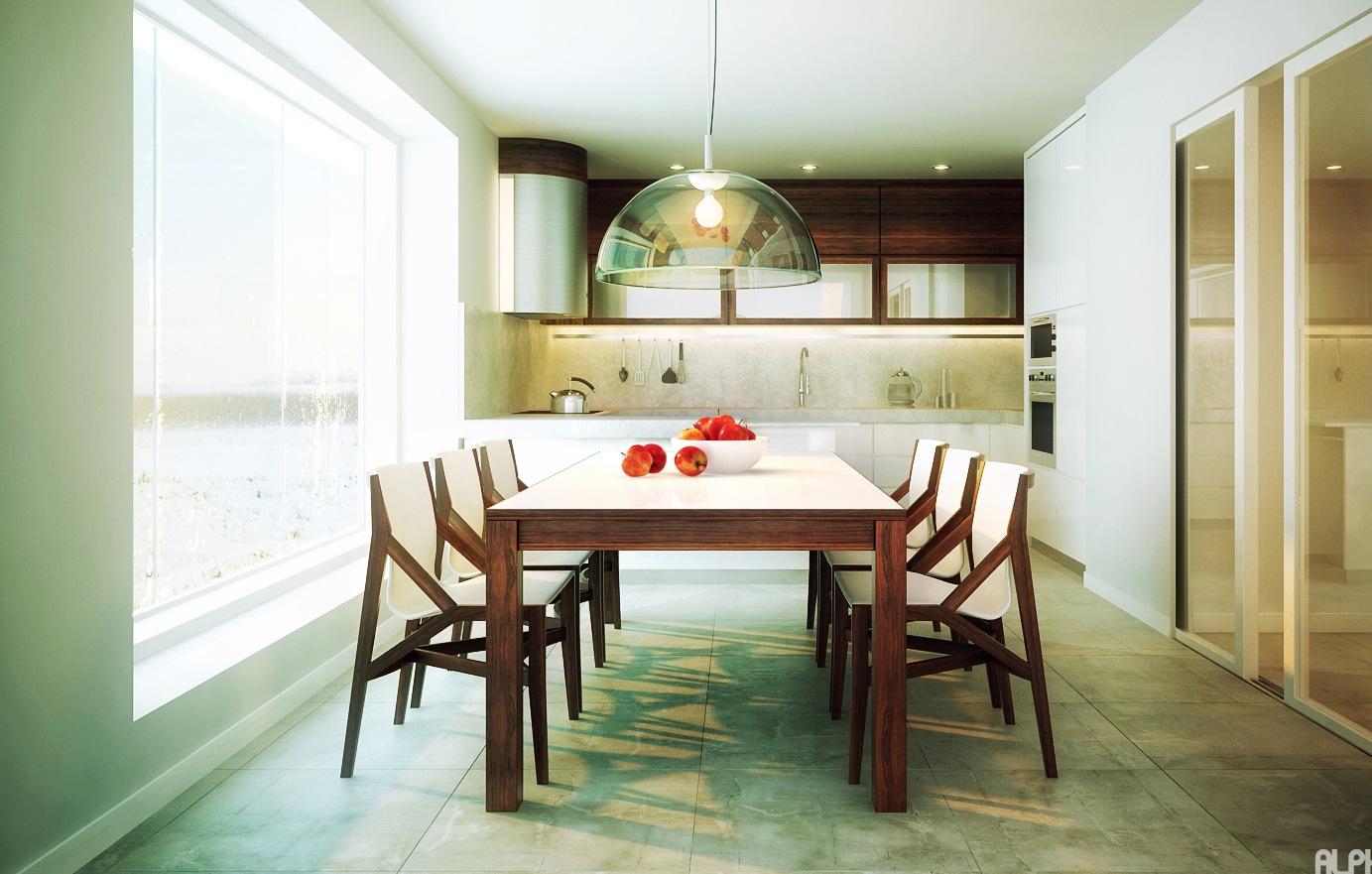 white walnut kitchen diner | interior design ideas.