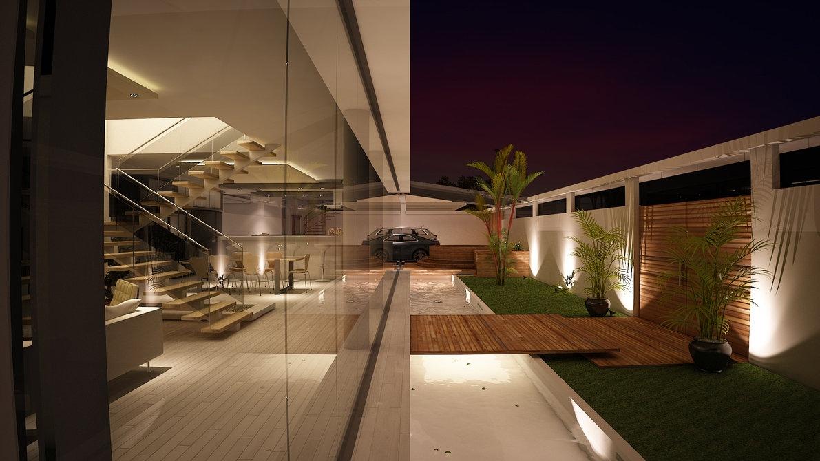 bridged courtyard entryway Interior Design Ideas. - ^