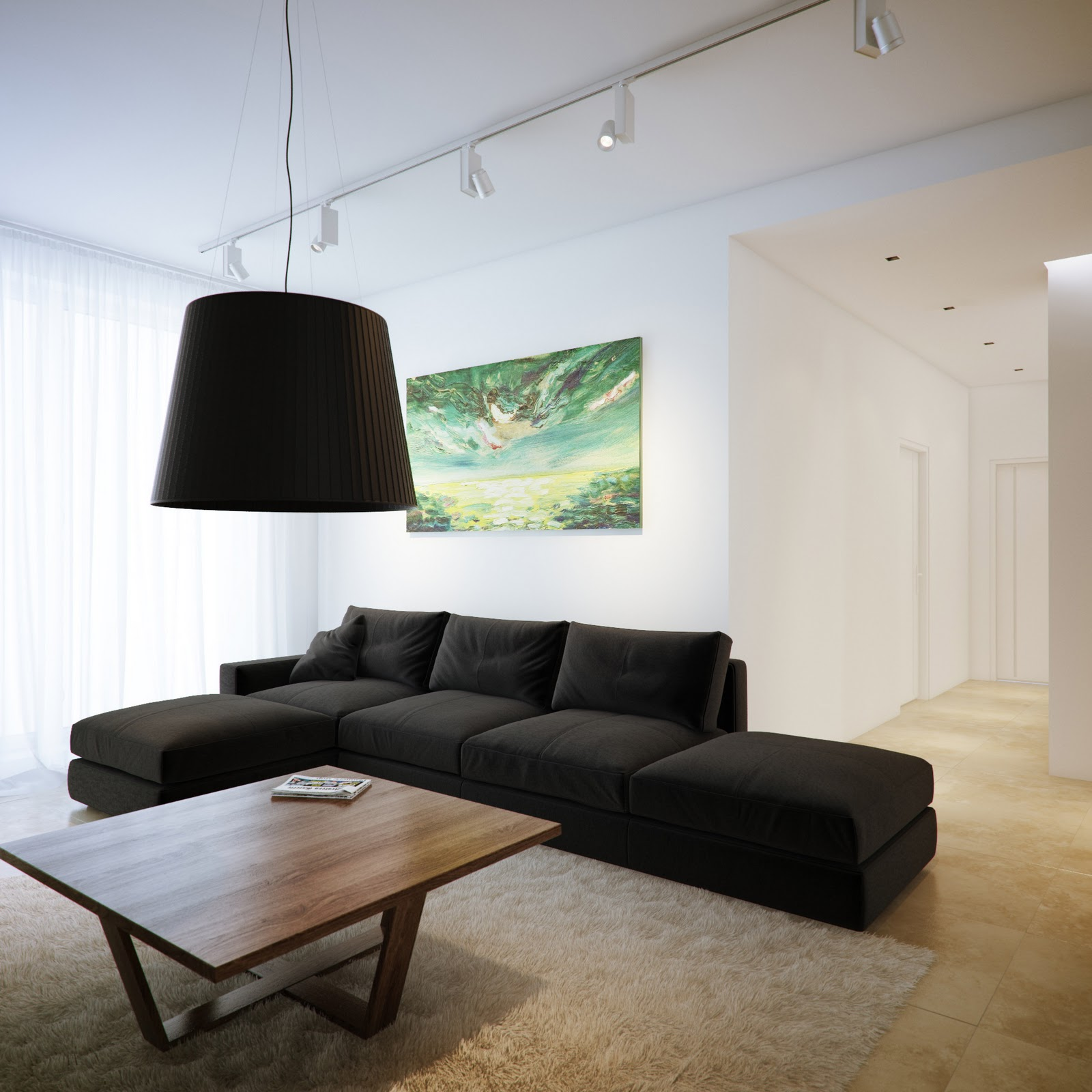 Living Room Lighting 20 Powerful Ideas To Improve Your: Modern Minimalist Black And White Lofts