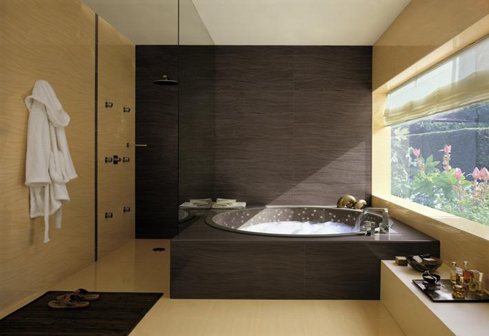 Black Cream Bathroom Scheme Tiles Interior Design Ideas