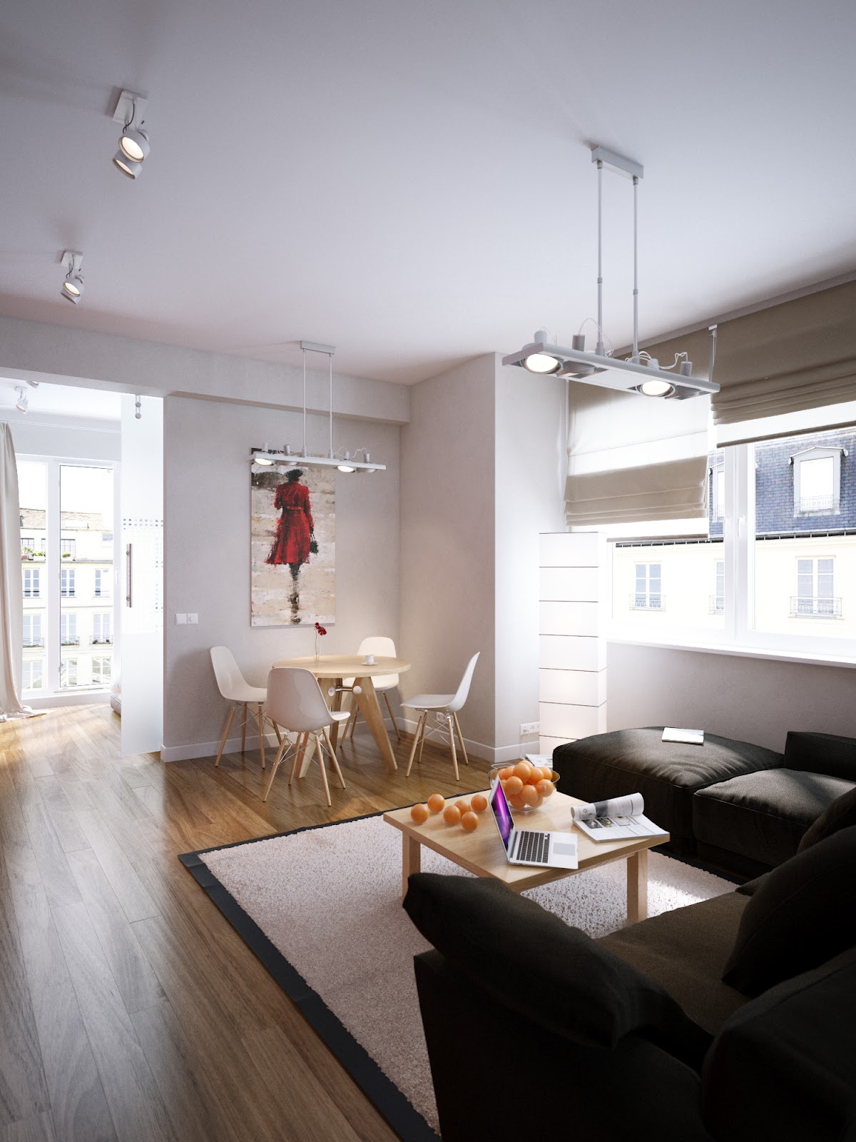 Apartment: Modern Red Apartment For A Young Couple [Visualized]