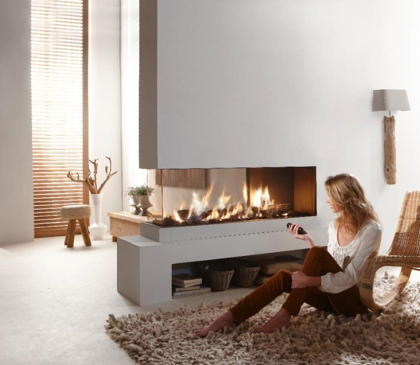 Electrical Home Design Ideas: Fabulously Minimalist Fireplaces