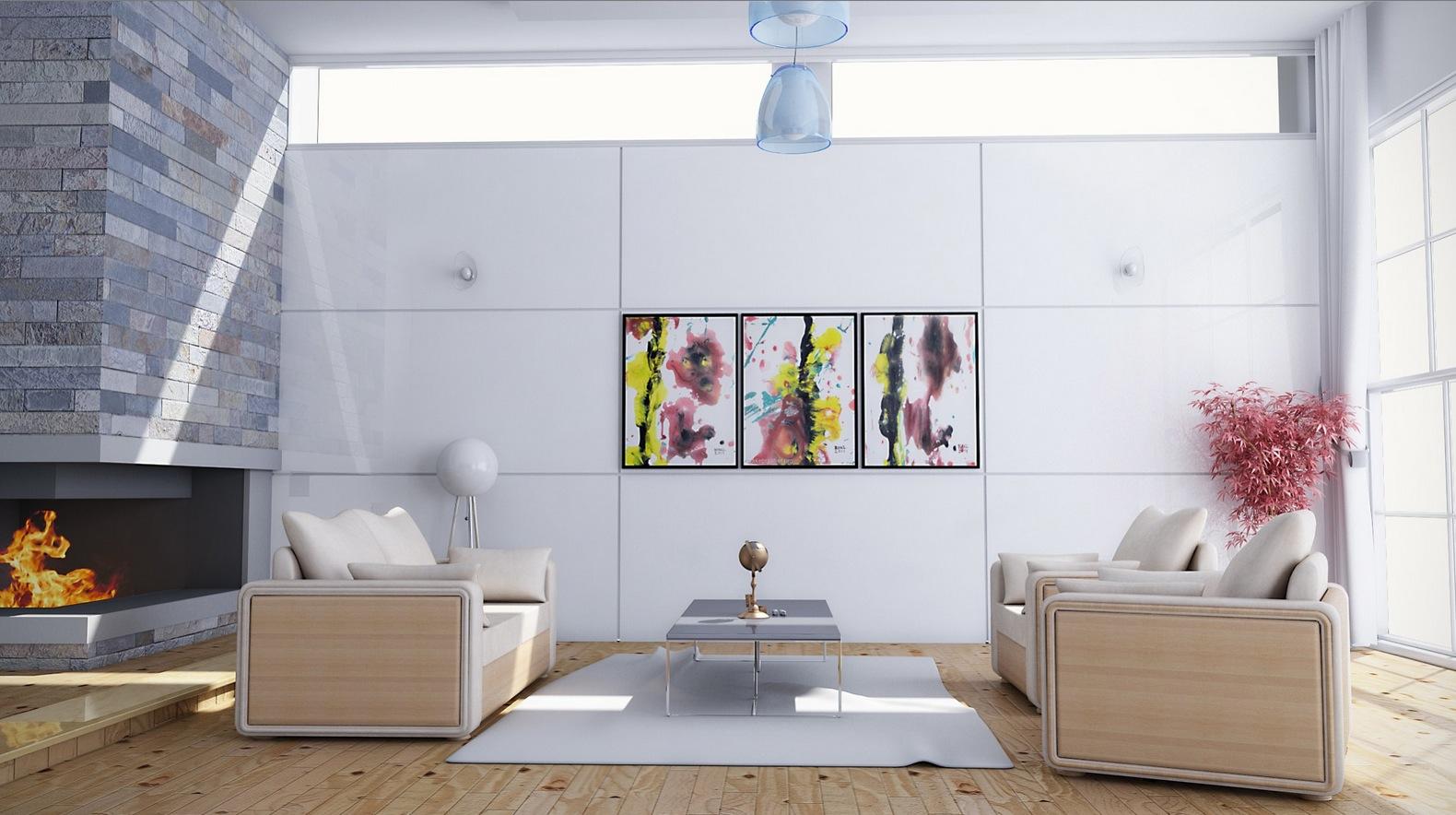 Feminine living room decor scheme interior design ideas - Feminine living room design ideas ...