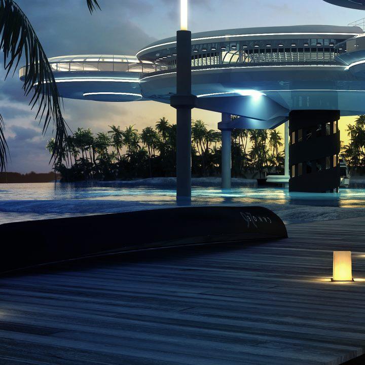 Futuristic Hotel Complex Interior Design Ideas