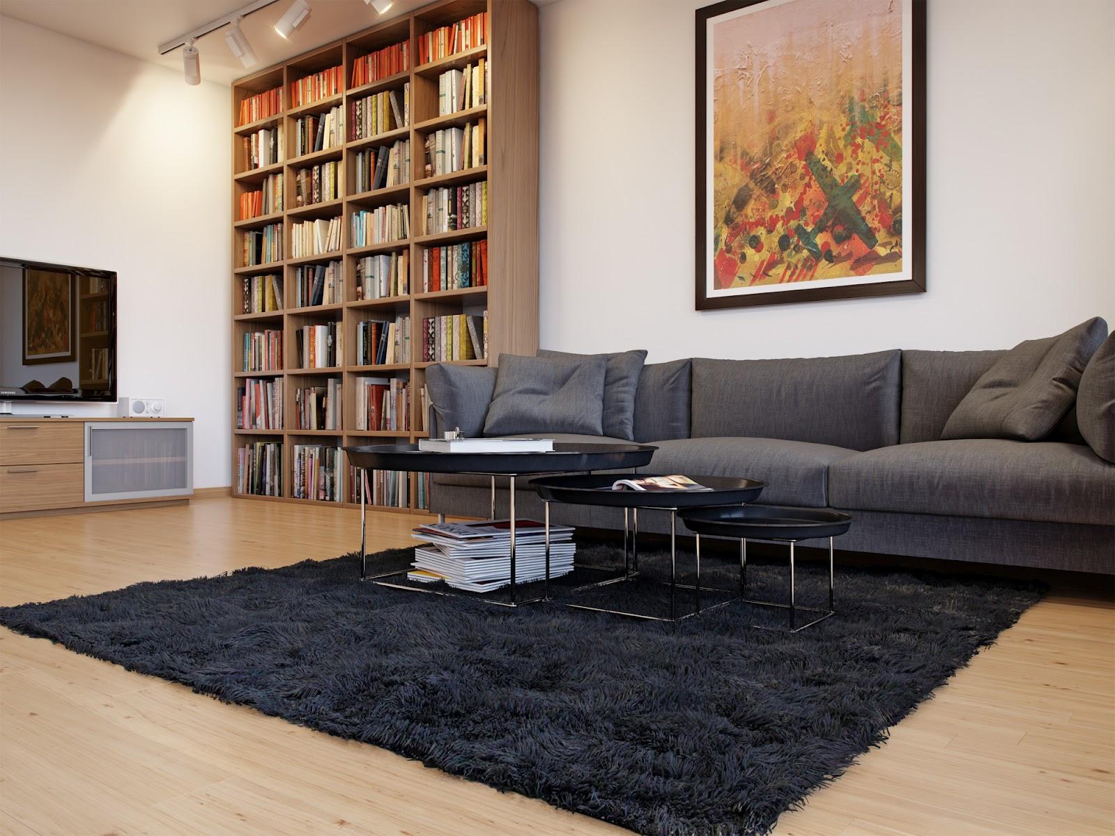 Gray White Livining Room Sofainterior Design Ideas