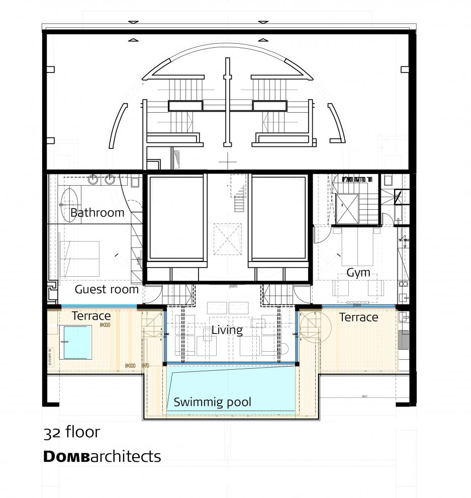 Penthouse-floor-plan Luxury Pent House With Gym Building Floor Plan on