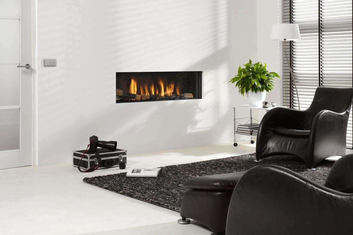 Recessed Letterbox Fireplace Interior Design Ideas