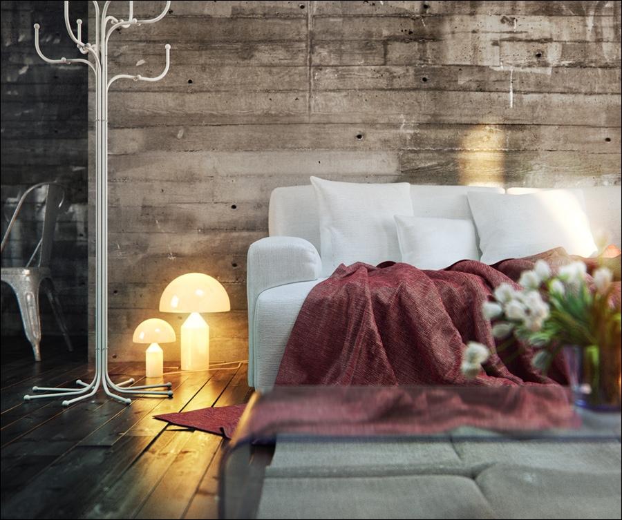 wood clad interior wall feature interior design ideas. Black Bedroom Furniture Sets. Home Design Ideas