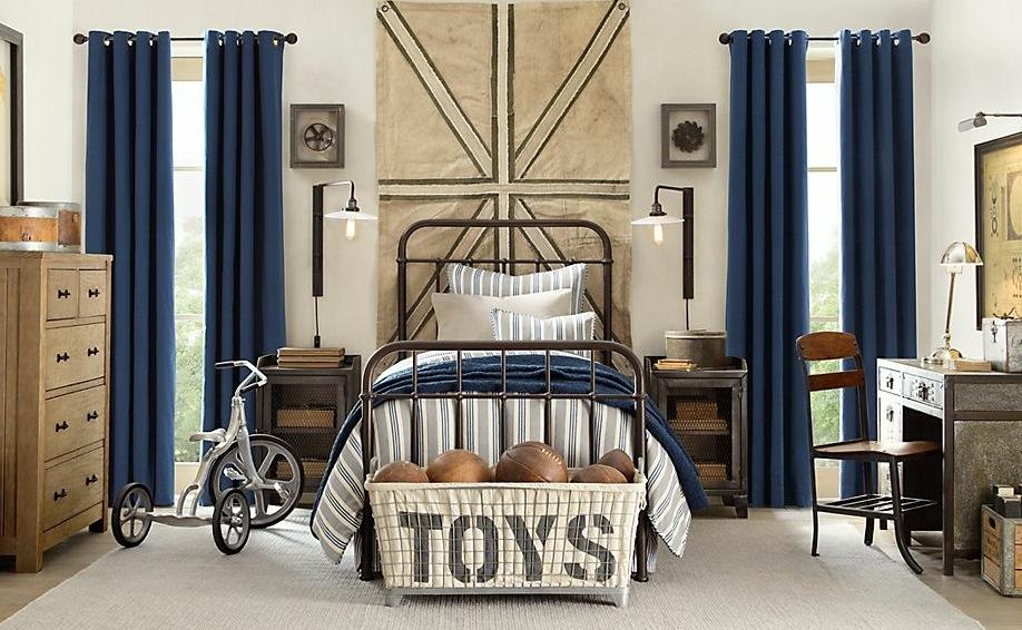 Blue cream boys bedroom decor | Interior Design Ideas.