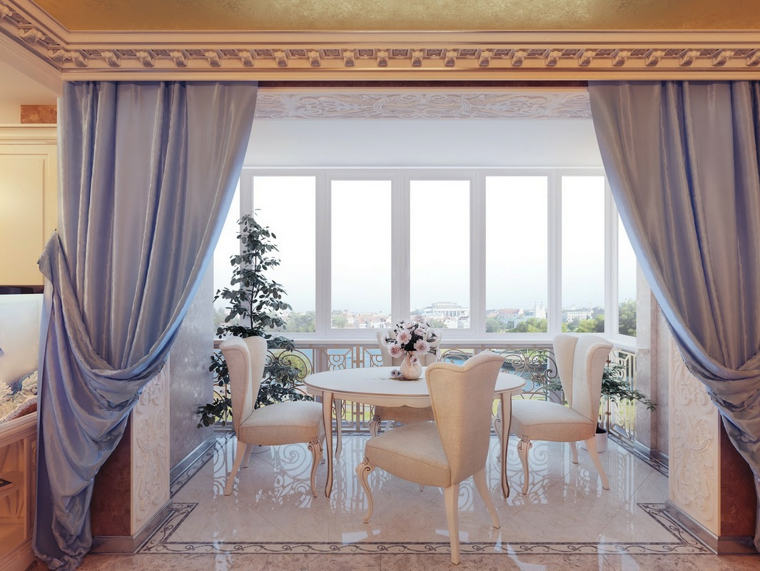 Really regal interiors - Curtains for living room and dining room ...