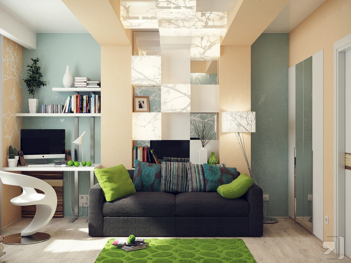 green blue office lounge | interior design ideas.