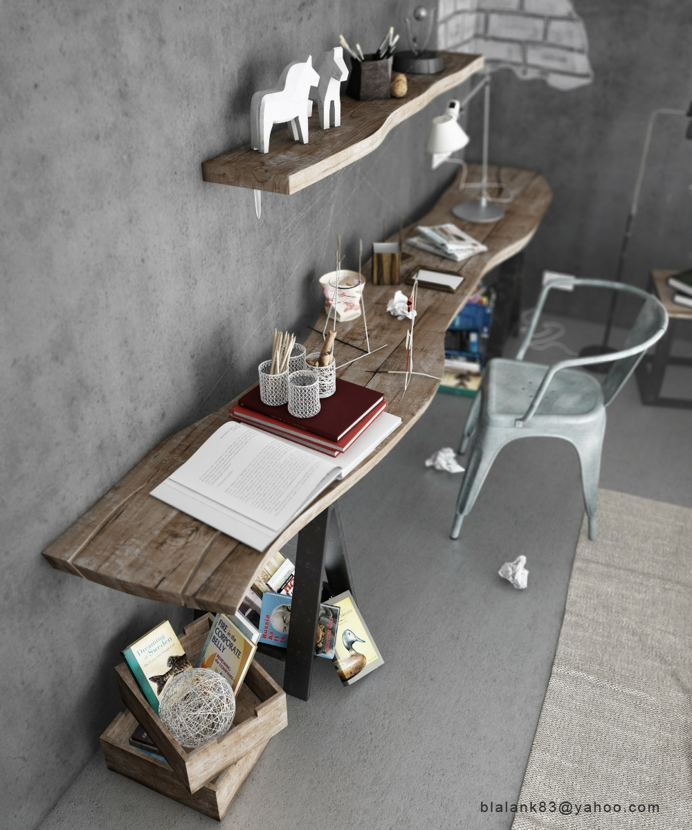 Industrial Home Office Design Ideas: Industrial Style Home Office