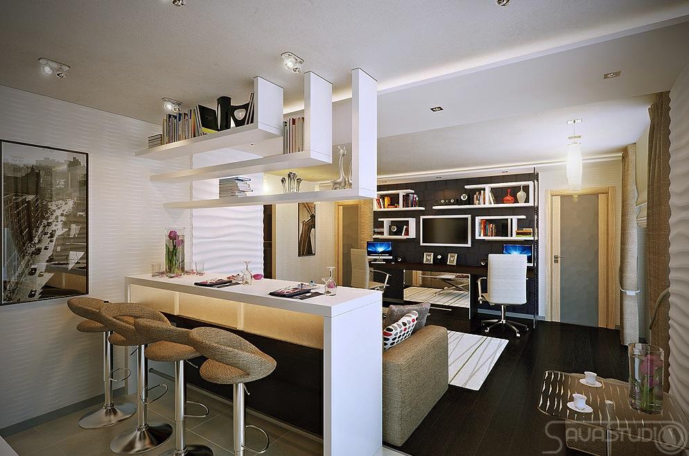 white open plan kitchen lounge interior design ideas