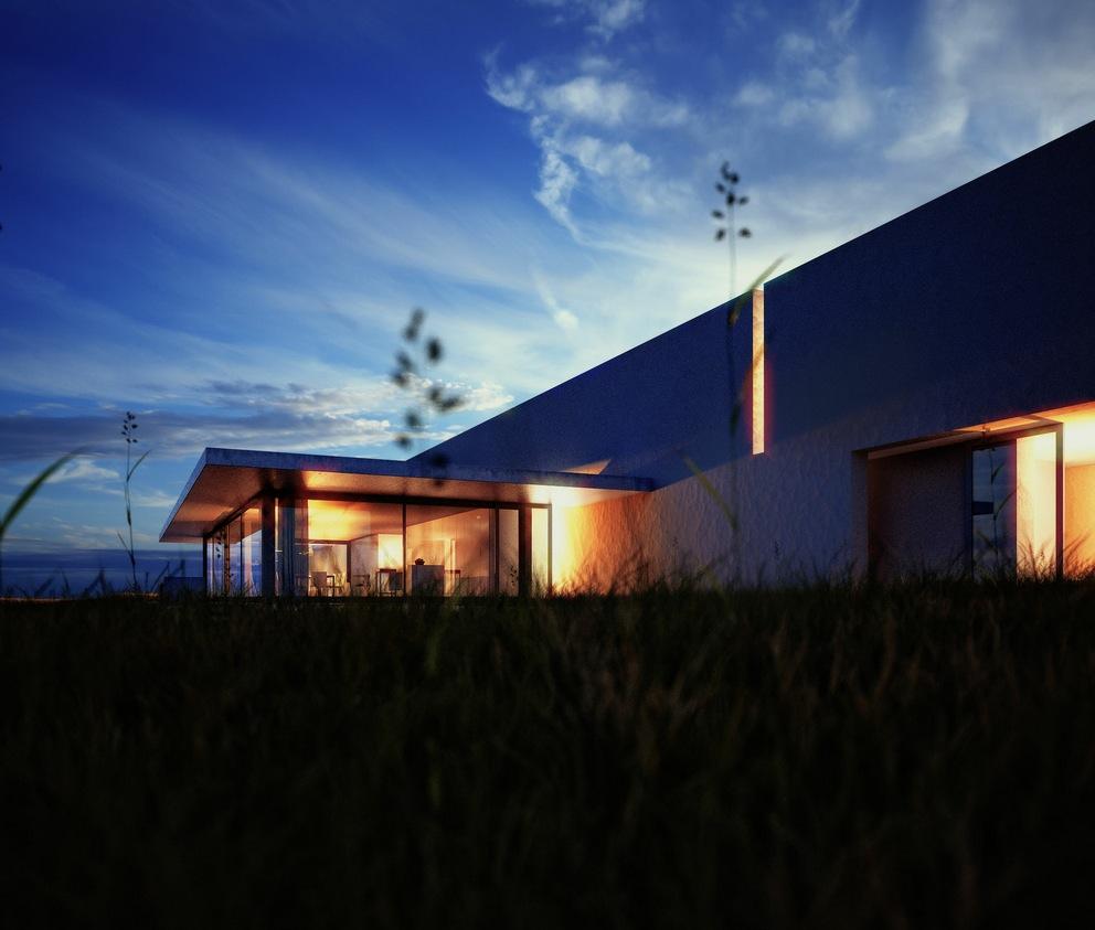 night time render of modern house Interior Design Ideas. - ^