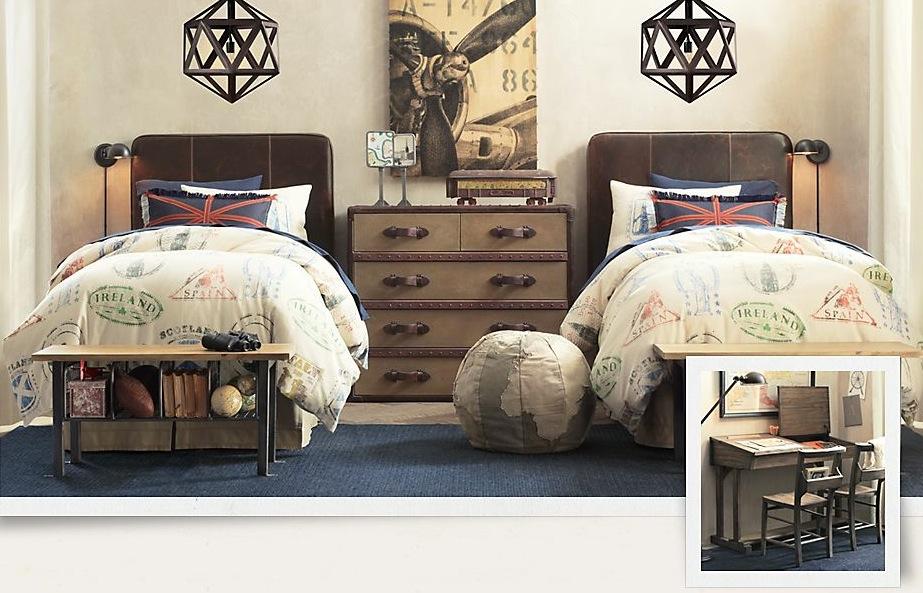 travel themed kids bedroom