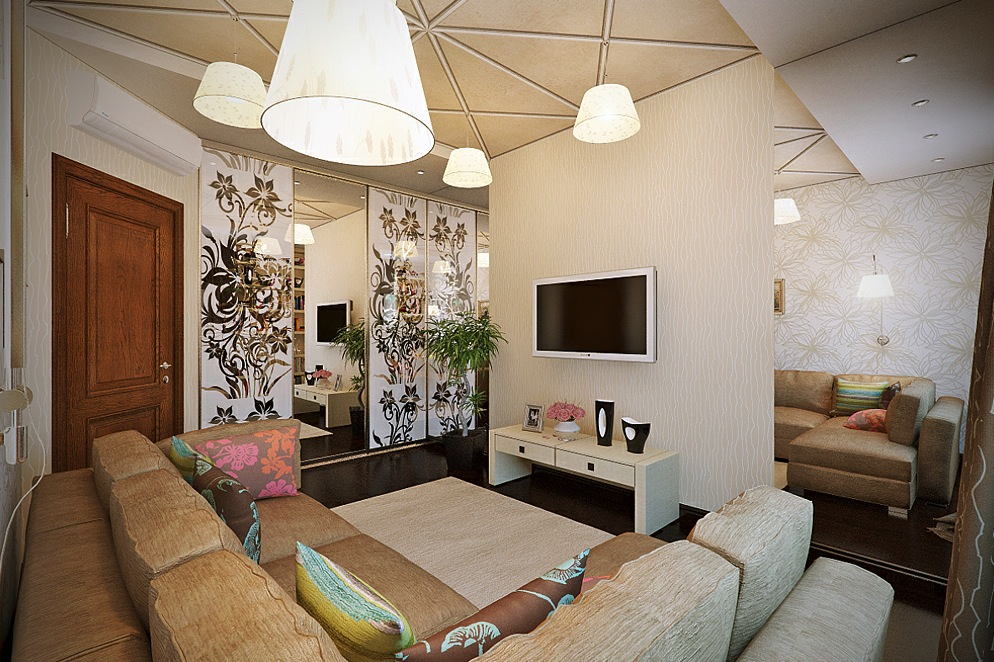 Contemporary feminine living room decor interior design - Feminine living room design ideas ...