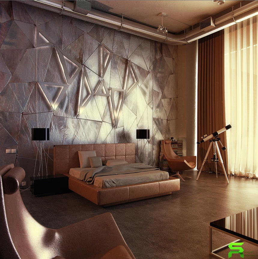 Decorating Contemporary Home Interior Design Ideas Modern: Unique Wall Texturing Examples