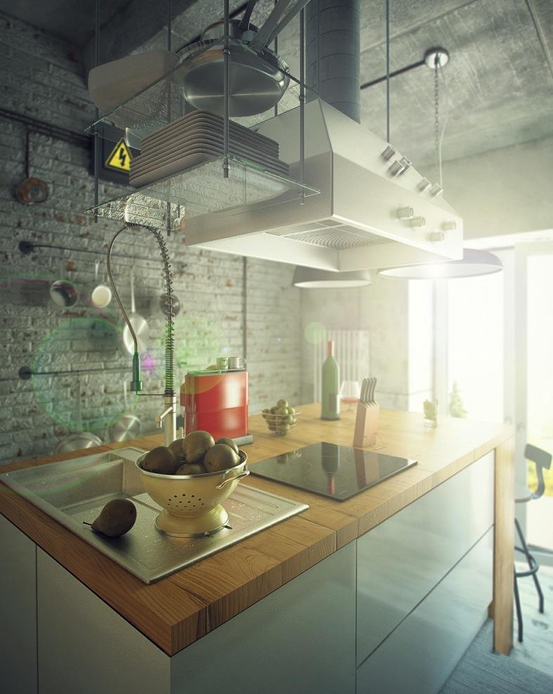 casual loft style living. Black Bedroom Furniture Sets. Home Design Ideas