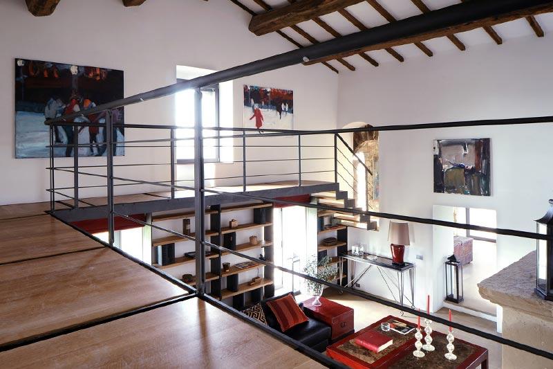 Metal Balustrade Mezzanine Interior Design Ideas