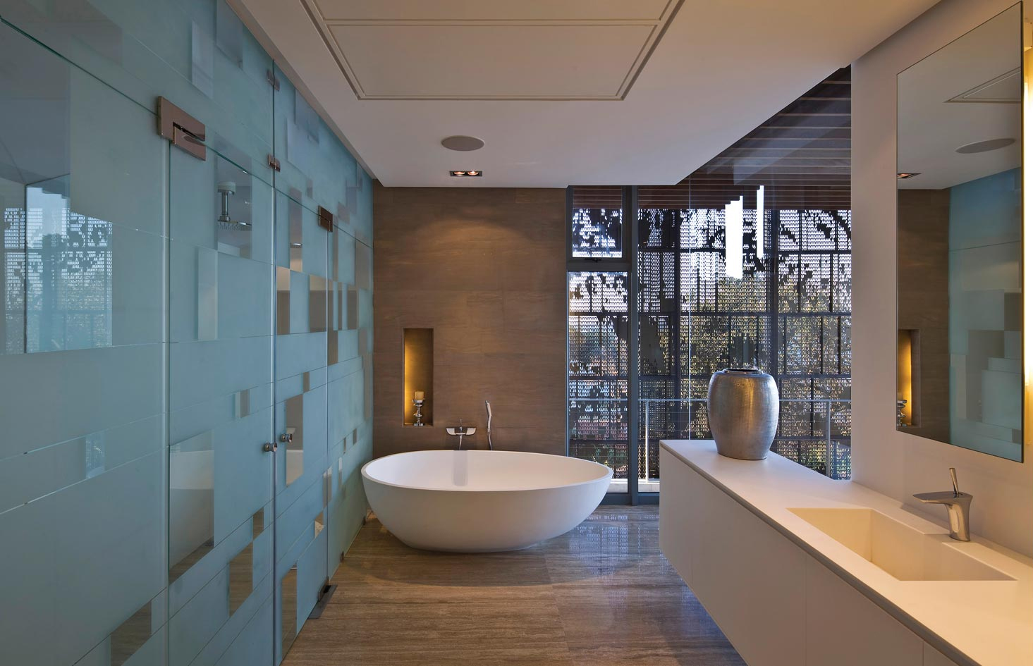 Contemporary cocoon house - Bathroom designs for home ...