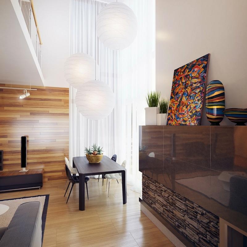 Natural Materials Living Room Interior Design Ideas