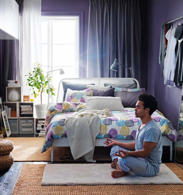 ikea 2013 catalog 18937 | purple white bedroom scheme1