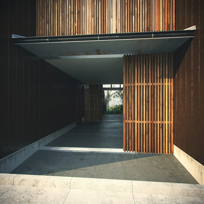 Modern japanese home - Architectural wood interior wall panels ...