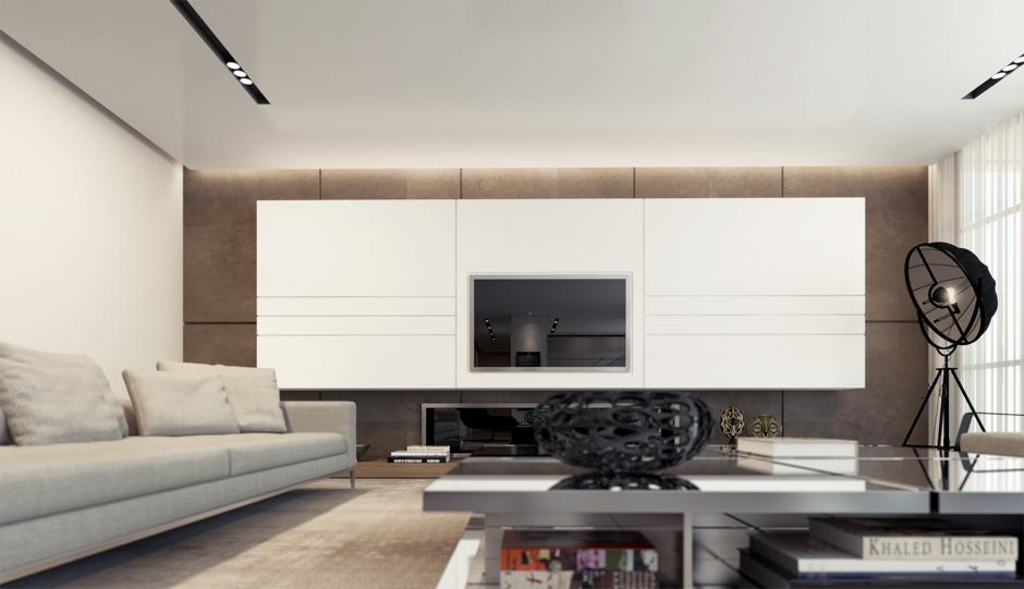2 White Entertainment Unit Interior Design Ideas