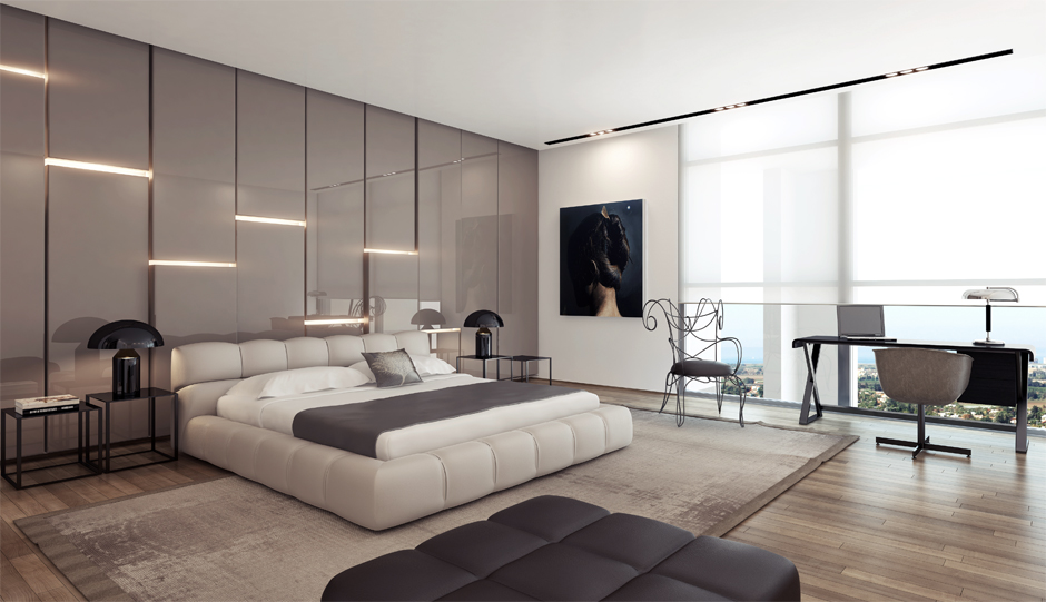 3 Modern bedroom design platform bed | Interior Design Ideas.