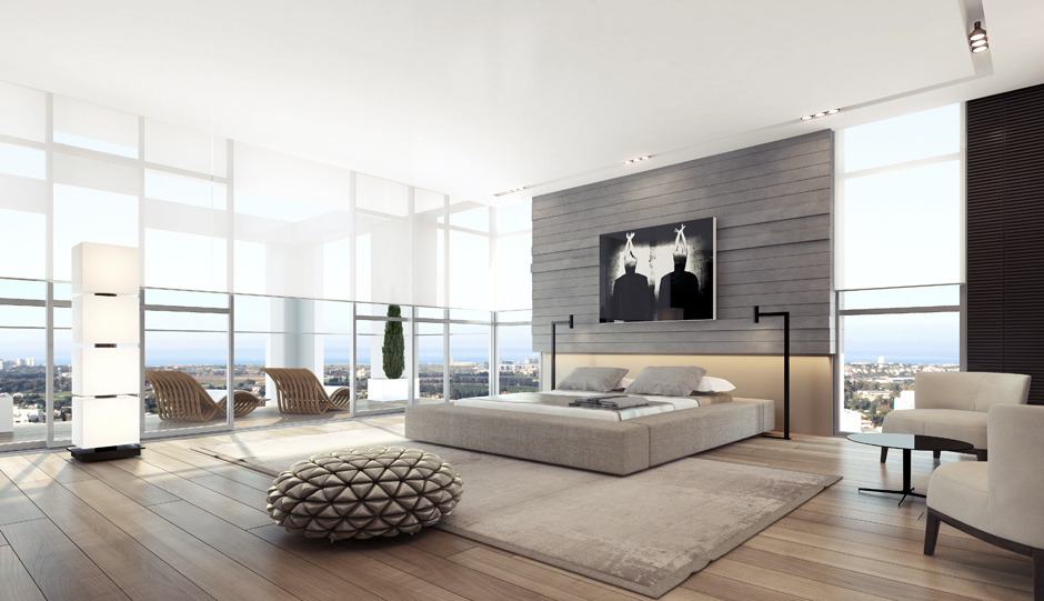 Cream Bedroom Decor: Apartment Interior Design Inspiration