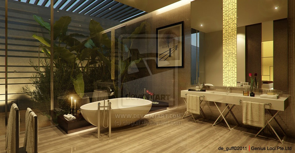 Bathtubs with a view of nature