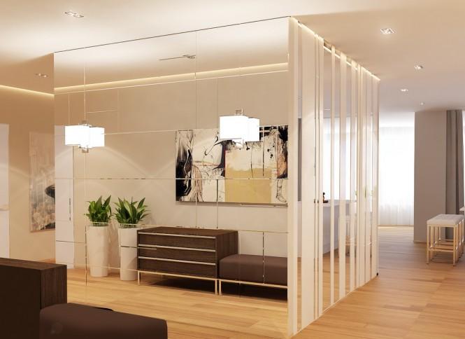 Brown white interior design