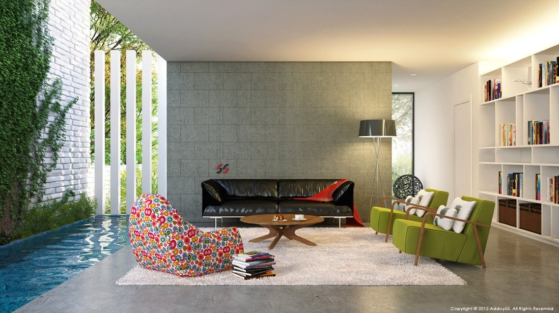 Louisiana Contemporary living room design Interior Design ...