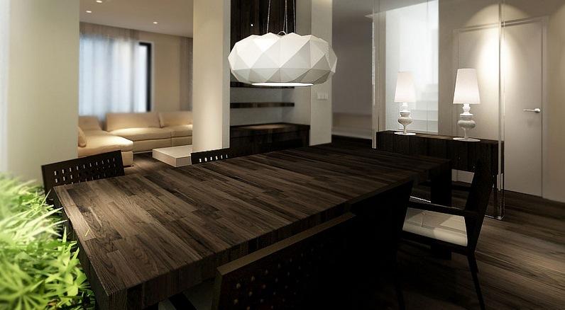 Dark Wood Dining Table Interior Design Ideas
