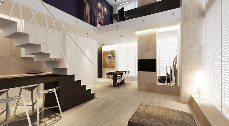 Open plan staircase design