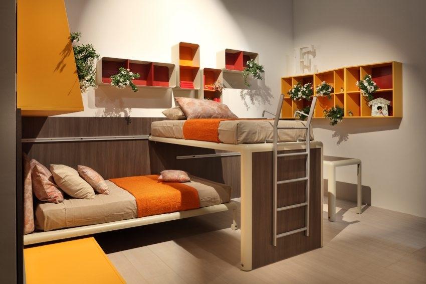 Orange Red White Kids Room