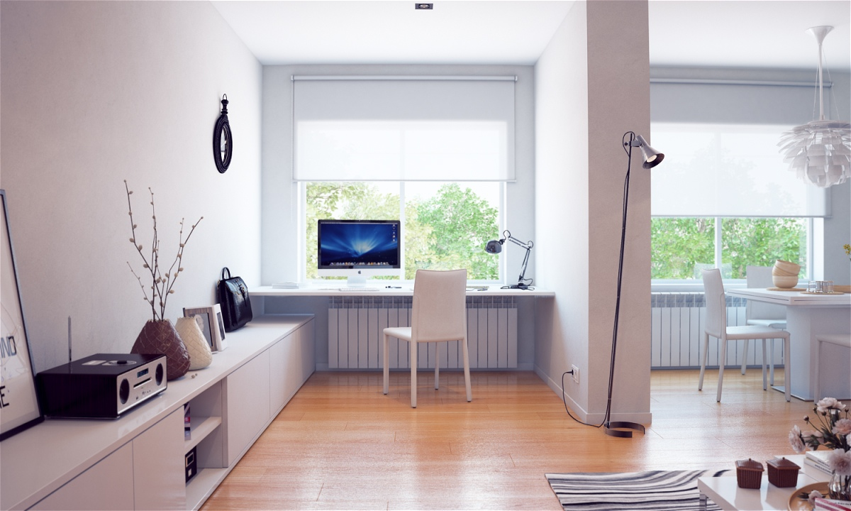 white built in office desk | interior design ideas.