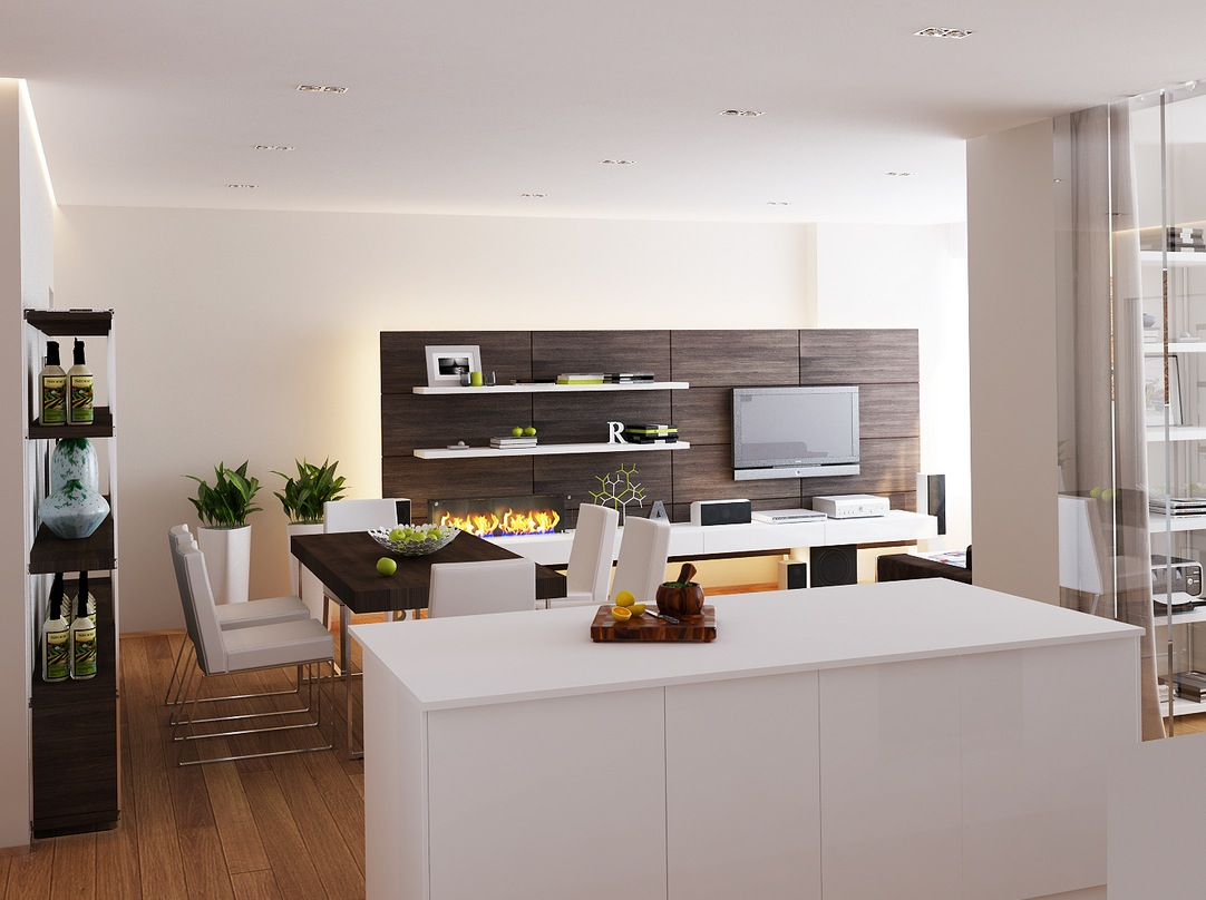 White kitchen island | Interior Design Ideas.