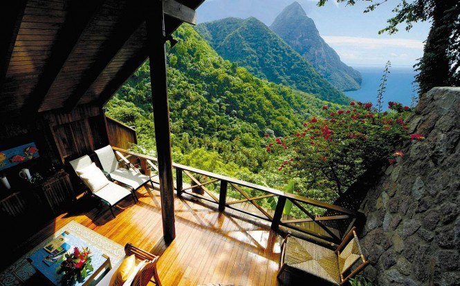 The ladera resort in st lucia is a tropical island paradise teeming with natural splendor