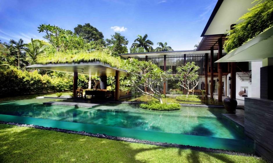 contemporary garden spaces serene sun house | Serene Sun House