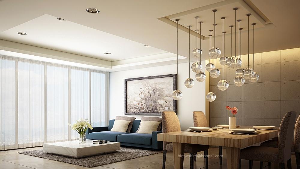 Modern blue sofa | Interior Design Ideas.