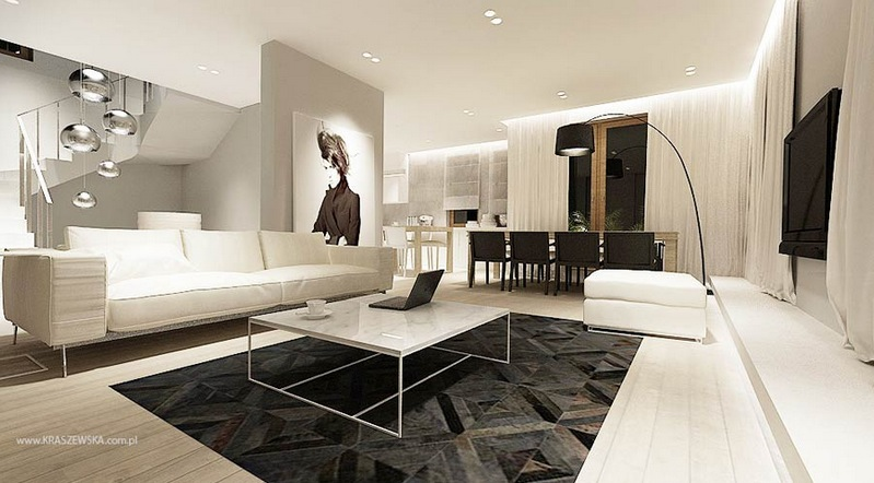 Living Room. Divine Modern Interior Home Design Concept Large ... - Modern Home In Interior Living Room