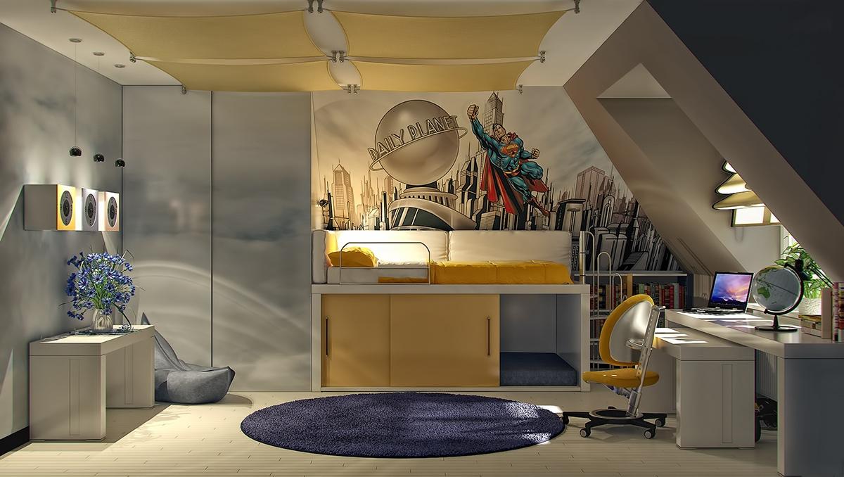 attic hangout room ideas - Colorful Kids Rooms