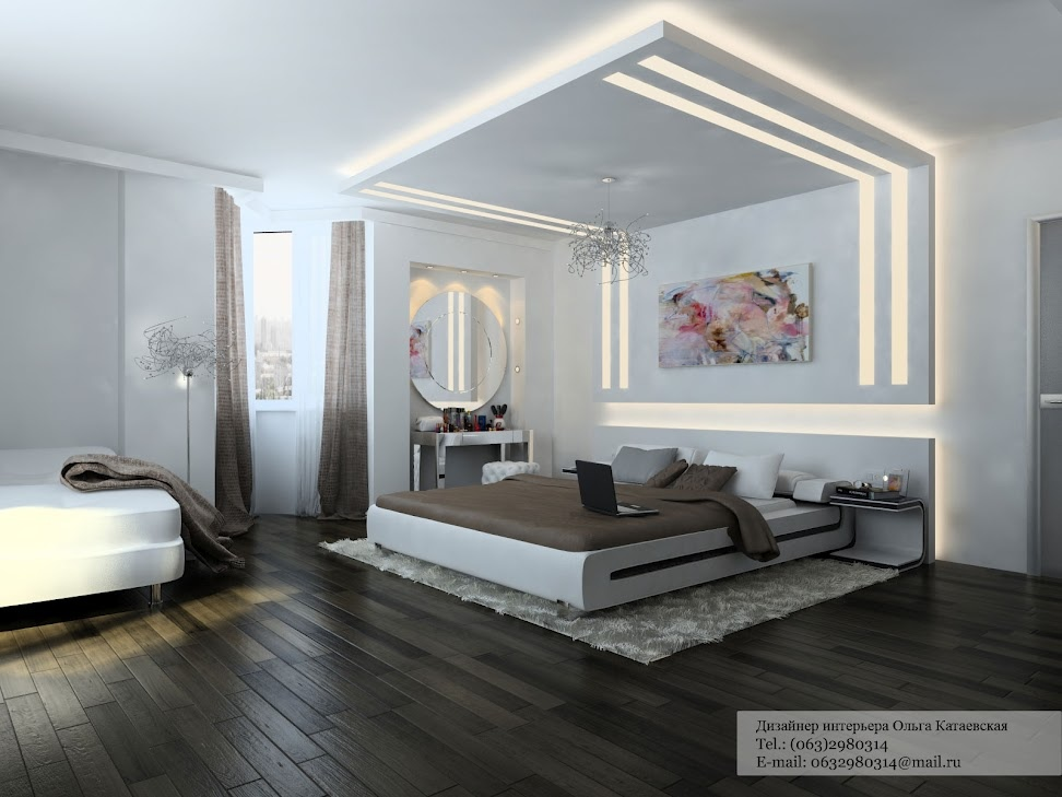 White brown bedroom | Interior Design Ideas.