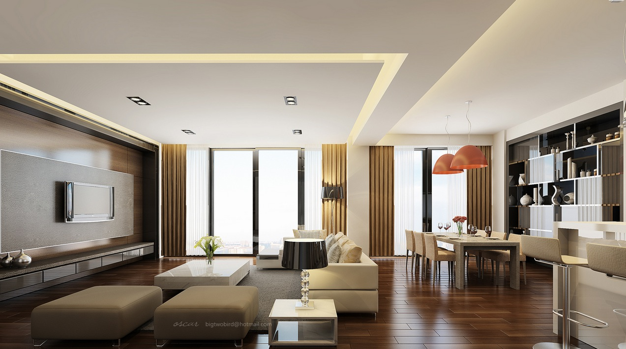 Studio lofts - L shaped living dining room design ideas ...