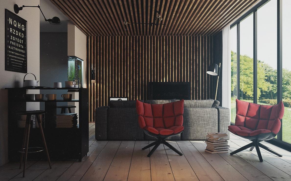 Rustic Lounge Interior Design Ideas