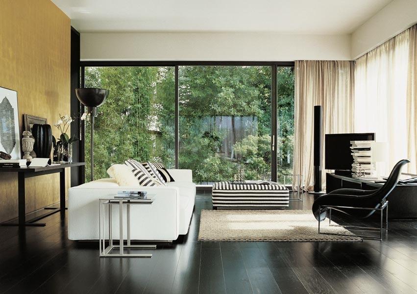 Awe Inspiring Black White Stripe Ottoman Interior Design Ideas Onthecornerstone Fun Painted Chair Ideas Images Onthecornerstoneorg